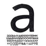 Doodlebug Design - Sugar Coated - Adhesive Chipboard Alphabet - Hopscotch Font - Beetle Black