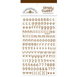 Doodlebug Design - Simply Sweet Mini Alphabet Rub-Ons - Bon Bon