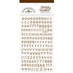 Doodlebug Design - Simply Sweet Mini Alphabet Rub-Ons - Bon Bon