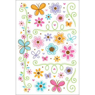 Doodlebug Designs - Teen Girl Collection - Rub-ons , CLEARANCE