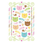 Doodlebug Design - Pretty Kitty Cat Collection - Rub-Ons - Pretty Kitty, CLEARANCE