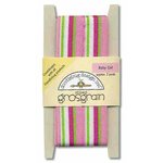 Doodlebug Design Striped Grosgrain Ribbon - Baby Girl, CLEARANCE
