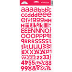 Doodlebug Designs - Alphabet Cardstock Stickers - Hopstotch Font - Ladybug , CLEARANCE