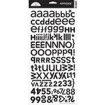 Doodlebug Design - Alphabet Cardstock Stickers - Hopscotch Font - Beetle Black