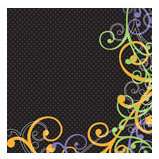 Doodlebug Design - Halloween Collection - 12x12 Accent Paper - Hocus Pocus