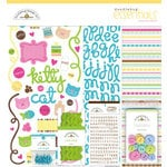 Doodlebug Design - Pretty Kitty Cat Collection - 12x12 Essentials Kit - Pretty Kitty
