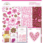Doodlebug Designs - Love Spell Valentine's Day Collection - 12x12 Essentials Kit - Love Spell