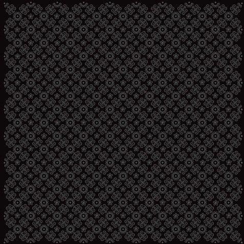 Doodlebug Design - 12x12 Accent Paper - Beetle Black La Fleur