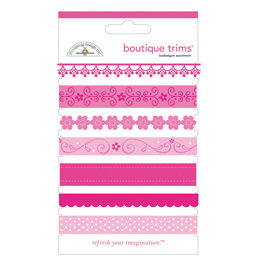 Doodlebug Designs - Boutique Trims - Assorted Ribbon - Bubblegum