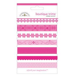 Doodlebug Designs - Boutique Trims - Assorted Ribbon - Bubblegum