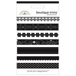 Doodlebug Designs - Boutique Trims - Assorted Ribbon - Beetle Black