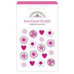 Doodlebug Designs - Boutique Brads - Assorted Brads - Bubblegum, CLEARANCE