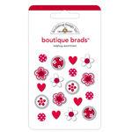 Doodlebug Designs - Boutique Brads - Assorted Brads - Ladybug, CLEARANCE