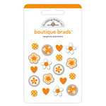 Doodlebug Designs - Boutique Brads - Assorted Brads - Tangerine, CLEARANCE