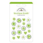 Doodlebug Designs - Boutique Brads - Assorted Brads - Limeade, CLEARANCE