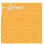 Doodlebug Designs - Sugar Coated Cardstock - 12x12 Spot Glittered Cardstock - Tangerine Daydream, CLEARANCE