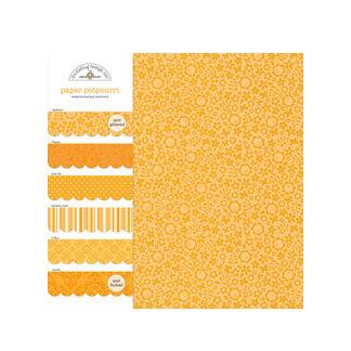 Doodlebug Design - Potpourri - 6 x 6 Paper Assortment - Tangerine, CLEARANCE