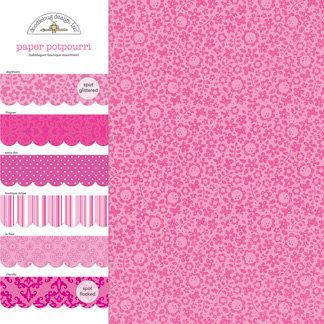 Doodlebug Design - Potpourri - 12 x 12 Paper Assortment - Bubblegum, CLEARANCE
