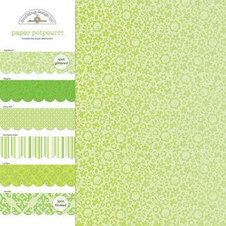 Doodlebug Design - Potpourri - 12 x 12 Paper Assortment - Limeade