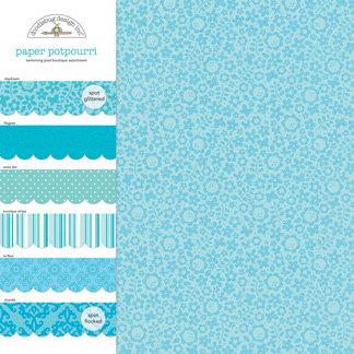 Doodlebug Design - Potpourri - 12 x 12 Paper Assortment - Swimming Pool, CLEARANCE