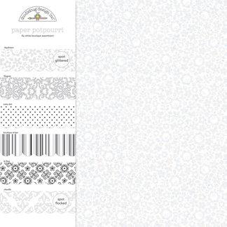 Doodlebug Design - Potpourri - 12 x 12 Paper Assortment - Lily White