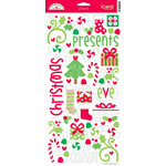 Doodlebug Design - Merry and Bright Collection - Christmas - Suger Coated Cardstock Stickers