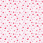 Doodlebug Design - True Love Collection - Valentines - 12 x 12 Velvet Flocked Paper - Love Potion