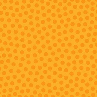 Doodlebug Design - La Di Dots - 12 x 12 Velvet Flocked Paper - Tangerine, CLEARANCE