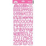 Doodlebug Design - Shin Dig - Glitter Alphabet Stickers - Bubblegum, CLEARANCE