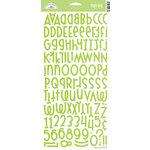 Doodlebug Design - Shin Dig - Glitter Alphabet Stickers - Limeade, CLEARANCE
