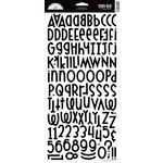 Doodlebug Design - Shin Dig - Glitter Alphabet Stickers - Beetle Black, CLEARANCE