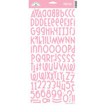 Doodlebug Design - Shin-Dig Collection - Flocked Velvet Coated Alphabet Cardstock Stickers - Cupcake, CLEARANCE