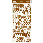 Doodlebug Design - Shin-Dig Collection - Flocked Velvet Coated Alphabet Cardstock Stickers - Bon Bon, CLEARANCE