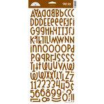 Doodlebug Design - Shin-Dig Collection - Flocked Velvet Coated Alphabet Cardstock Stickers - Bon Bon, CLEARANCE
