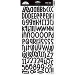 Doodlebug Design - Shin-Dig Collection - Flocked Velvet Coated Alphabet Cardstock Stickers - Beetle Black, CLEARANCE