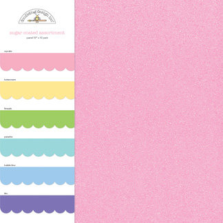 Doodlebug Design - Sugar Coated - 12 x 12 Paper Assortment - Pastel