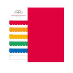 Doodlebug Design - Crushed Velvet - 6 x 6 Paper Assortment - Primary, CLEARANCE