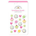 Doodlebug Design - Boutique Brads - Assorted Brads - Confection, CLEARANCE
