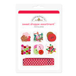Doodlebug Design - Cherries Jubilee Collection - Sweet Shoppe Assortment - Cherries Jubilee, CLEARANCE