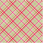 Doodlebug Design - Cherries Jubilee Collection - 12 x 12 Accent Paper - Cherry Pie Plaid