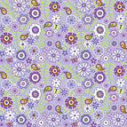 Doodlebug Design - Sugar Plum Collection - 12 x 12 Accent Paper - Plum Passion