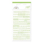 Doodlebug Design - Candy Shoppe Collection - Mini Alphabet Rub Ons - Limeade, CLEARANCE