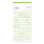 Doodlebug Design - Candy Shoppe Collection - Mini Alphabet Rub Ons - Limeade, CLEARANCE