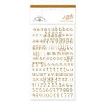 Doodlebug Design - Candy Shoppe Collection - Mini Alphabet Rub Ons - Bon Bon, CLEARANCE