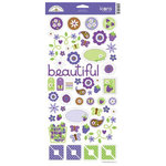 Doodlebug Design - Sugar Plum Collection - Sugar Coated Cardstock Stickers - Icons