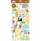 Doodlebug Design - Zoofari Collection - Cardstock Stickers - Safari Icons