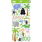 Doodlebug Design - Zoofari Collection - Cardstock Stickers - Jungle Icons
