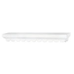 Doodlebug Design - Fashion Furnishings Collection - Scalloped Shelf - White