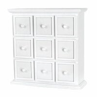 Doodlebug Design - Fashion Furnishings Collection - Apothecary Chest - White