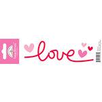 Doodlebug Design - Headlines Collection - Cardstock Stickers - Love